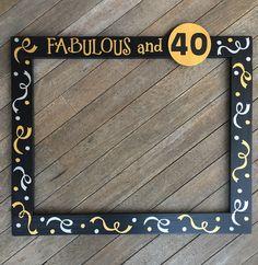 30th Birthday Photobooth - 40th Birthday Frame Prop - 50th Birthday Photo Booth - 60th Birthday Photobooth Frame Prop