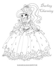 kara realm ever after high coloring pages - Ever After High Coloring Book