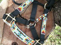 Beaded Rope Halter Horse Tack Horse Halter by HorsetailsBeadwork