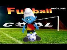 Fußball ist unser Leben,...regiert die Welt⚽EM, WM⚽Fußballfans⚽Schlümpfe...
