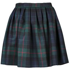 OLYMPIA LE-TAN Aude skirt (6,020 HNL) ❤ liked on Polyvore featuring skirts, mini skirts, bottoms, saias, faldas, blue skirt, pleated skirt, tartan skirt, blue pleated skirt and blue plaid mini skirt