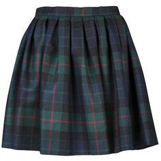 OLYMPIA LE-TAN Aude skirt (£214) ❤ liked on Polyvore featuring skirts, mini skirts, bottoms, saias, faldas, plaid skirt, tartan skirt, blue plaid skirt, blue mini skirt and short mini skirts