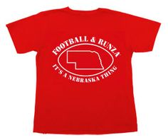 """Football & Runza, it's a Nebraska Thing""  Definitely is :) Thanks Sara for sending this pin my way!"