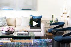 Tour a bright and contemporary family home with pops of color by designer Samantha Farjo.