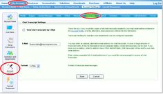 How to set up for receiving Chat Transcripts  http://www.providesupport.com/manual/managing_chat_transcripts.htm