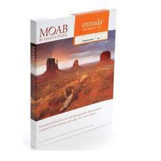 """Moab Entrada Rag Bright 190gsm 17""""x22"""" - 25 sheets R08-ERB190172225"""