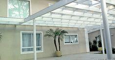 28 modelos de cobertura para garagem de casas.  Este modelo é de telhas de acrílico com armação de aço.  http://www.vaicomtudo.com/cobertura-para-garagem.html