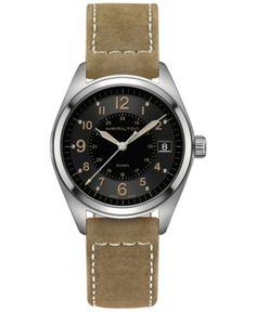 9911ac4675fb Hamilton Men s Swiss Khaki Field Tan Leather Strap Watch 40mm H68551833.  Tan LeatherPerfect TimingHamilton ...