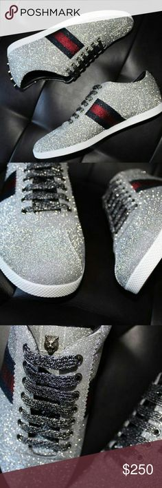 d0f6a6602 Gucci Glitter Sneakers Serious Buyers Only 100% Authentic Brand New Never  Worn US sizes 7