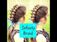 DIY Dutch Infinity Braid Hair Tutorial - YouTube