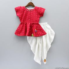 Pre Orde r: Stylish Diva Dhoti Set Girls Dresses Sewing, Frocks For Girls, Dresses Kids Girl, Girl Outfits, Kids Dress Patterns, Baby Clothes Patterns, Kids Indian Wear, Kids Blouse Designs, Baby Dress Design