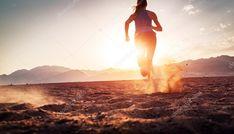 Girl running in the desert — Stock . Girl Running, Running Away, Hands Reaching Out, Dark Cave, Stock Photo Girl, First Response, Free Girl, Sunset Photos, Arctic