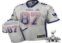 7cf9fc75f New England Patriots  87 Rob Gronkowski 2015 Super Bowl XLIX Drift Fashion  Gray Elite Jersey