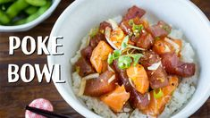 Refreshing and delicious tuna and salmon Poke Bowl recipe. This easy recipe is great for parties (DIY Poke Bowl Party!) or to enjoy as a one dish meal. It on...