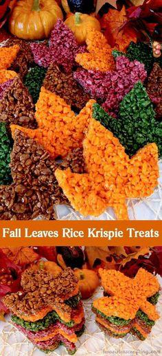 Fall leaves rice crispy treats