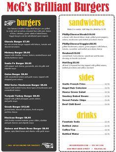 Backyard Burger Menu - MustHaveMenus