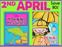 2nd Grade April - Morning Work: 20 morning messages with spring, Earth Day, weather, plants, and other spring related topics. $