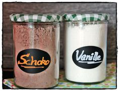 Vanille- und Schokoladen-Puddingpulver und Soßenpulver selbst gemacht Vanilla and chocolate pudding powder and sauce powder made by yourself Vegan Baking, Bread Baking, Salsa, Chocolate Bread Pudding, Kitchen Queen, Custard Powder, Thermomix Desserts, Pudding Desserts, Homemade Vanilla