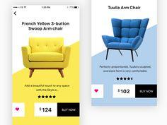 Furniture app UI designed by shailendra. Drawing Furniture, Furniture Logo, Furniture Layout, Furniture Design, Furniture Online, Office Furniture, Website Design Layout, Layout Design, Brochure Design Layouts