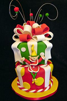 Whimsy Christmas Cake