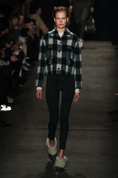 20 Pieces That Will Fly Off Retail Shelves from New York Fashion Week Fall 2014: Rag & Bone jacket: This four-pocket jacket looks new in plaid. The customer will love that she can pair it with a black leather mini in the city and then change back to jeans for the country. It's a classic fall staple.