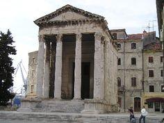 Roman Temple in Pula, Croatia: http://www.europealacarte.co.uk/blog/2009/04/28/the-istrian-city-of-pula-croatia-in-pictures/