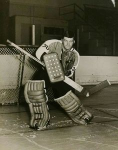 Bernie Parent with the Flyers earlier in his career.