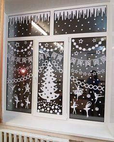 Christmas Window Display, Christmas Room, Christmas Party Decorations Diy, Christmas Templates, Creations, Crafts, Winter, Winter Decorations, Christmas Ornaments