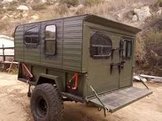 I like this compact mil style trailer with living quarters
