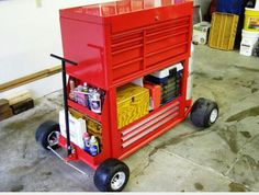 Click image for larger version. Name: Pit Cart Front.jpg Views: 819 Size: KB ID: 152856 Garage Shed, Garage Tools, Garage Workshop, Welding Cart, Welding Shop, Metal Projects, Welding Projects, Tool Storage, Garage Storage
