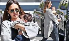Jessica Alba enjoys snuggles with her baby boy on stroll in LA | Daily Mail Online