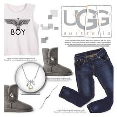 """""""Boot Remix with UGG : Contest Entry"""" by silycarsobers ❤ liked on Polyvore featuring UGG Australia, MBLife.com, uggs and uggaustralia"""