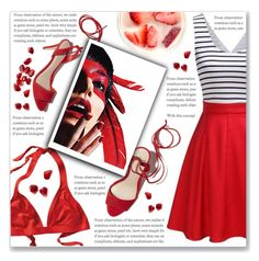 """""""#DAILYLOOK : Red !"""" by sweetnovember66 ❤ liked on Polyvore featuring Loeffler Randall and ESPRIT"""