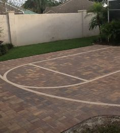 Who wants to have a basketball court in their own yard?  Yes, we can do that!