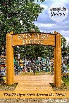 Visit the amazing sign post forest roadside attraction in Watson Lake, Yukon Alaska Travel, Canada Travel, Rv Travel, Travel Destinations, Alaska Highway, Road Trip Map, Lake Signs, Roadside Attractions, Historical Sites