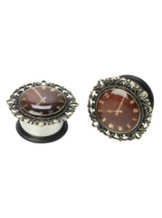 Steel Clock Filigree Saddle Plug 2 Pack