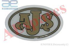 "NOS AJS British Vintage Motorcycle Vinyl Sticker Decal Badge  5.5/"""