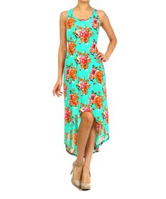 Look at this Mint Floral Hi-Low Dress on #zulily today!