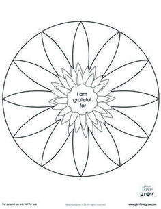 Some gratitude mandalas to color and fill. There are two blank ones and one in … Some gratitude mandalas to color and fill. There are two blank ones and one in color for you to explore the beauty and simplicity of gratitude. Art Therapy Projects, Therapy Tools, Therapy Ideas, Play Therapy, Craft Projects, Counseling Activities, Art Therapy Activities, Group Activities, Gratitude