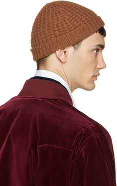Haider Ackermann Brown Wool Knit Beanie