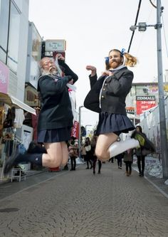 """When Ladybeard meets """"Sailor Suit Old Man"""", it's an explosion of manlycuteness【Photos】"""