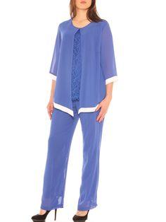 ... LuanaRomizi.com · Completo donna elegante twin set e pantalone palazzo  taglia morbida d13b1c80098