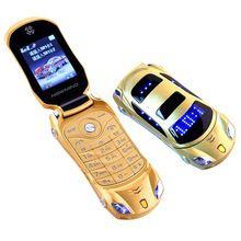 6690b0b62bf Original Newmind F15 Unlocked Flip Phone Dual Sim Mini Sports Car Model  Blue Lantern Bluetooth Mobile Cell Phone 2sim Celular(China)