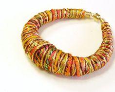 Fiber Bead Bracelet by LoominaTube on etsy