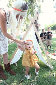this whole party is adorable. teepees, feathers, triangles. // kelli murray