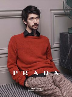 Christoph Waltz, Ezra Miller and Ben Whishaw for Prada Fall 2013 Ad Campaign