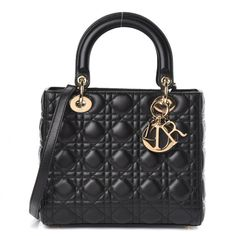 Lady Dior, Luxury Bags, Luxury Handbags, Christian Dior Bags, Dior Logo, Medium Bags, Lambskin Leather, Purses And Bags, Shoulder Strap