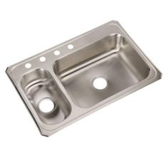 Swan dual mount composite 33 in 1 hole largesmall double basin elkay celebrity drop in stainless steel 33 in 4 hole double basin kitchen sink workwithnaturefo