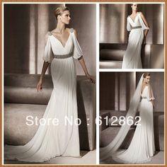 grecian chiffon wedding dress - cute dresses for a wedding Check more at http://svesty.com/grecian-chiffon-wedding-dress-cute-dresses-for-a-wedding/