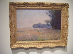 "Enjoying ""Champ d'avoine (Oat Field)"" by Monet with my wife Elizabeth in Gainesville Florida felt so great to scratch off the bucket list."